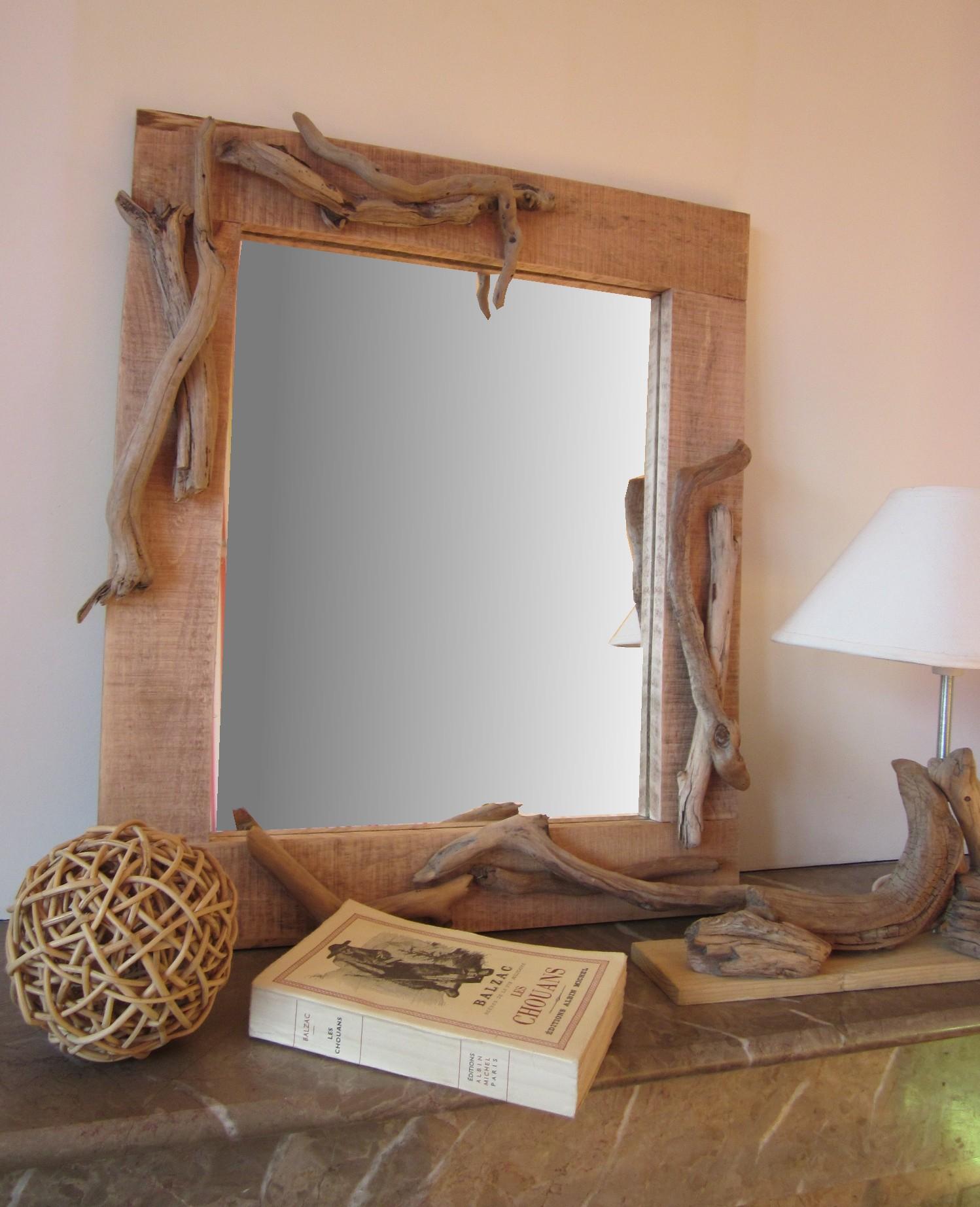 Que Faire Avec Bois Flotté fabriquer un miroir en bois flotté – réveillez vos meubles !