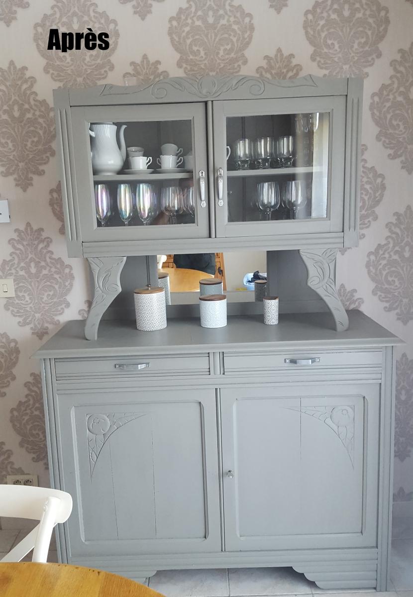 un buffet art d co avant apr s grrr le blog qui r veille les vieux meubles. Black Bedroom Furniture Sets. Home Design Ideas