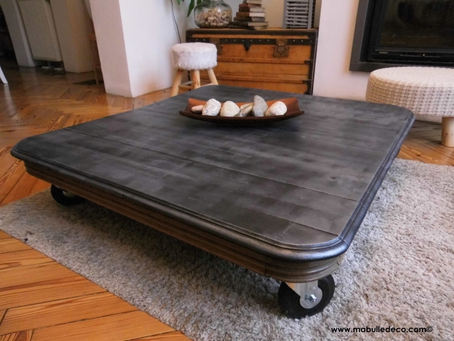 table basse loft roulettesbd