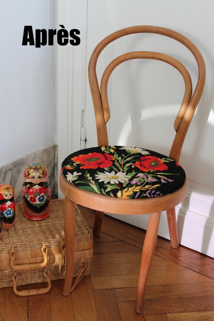 Chaise bistrot canevas APRES