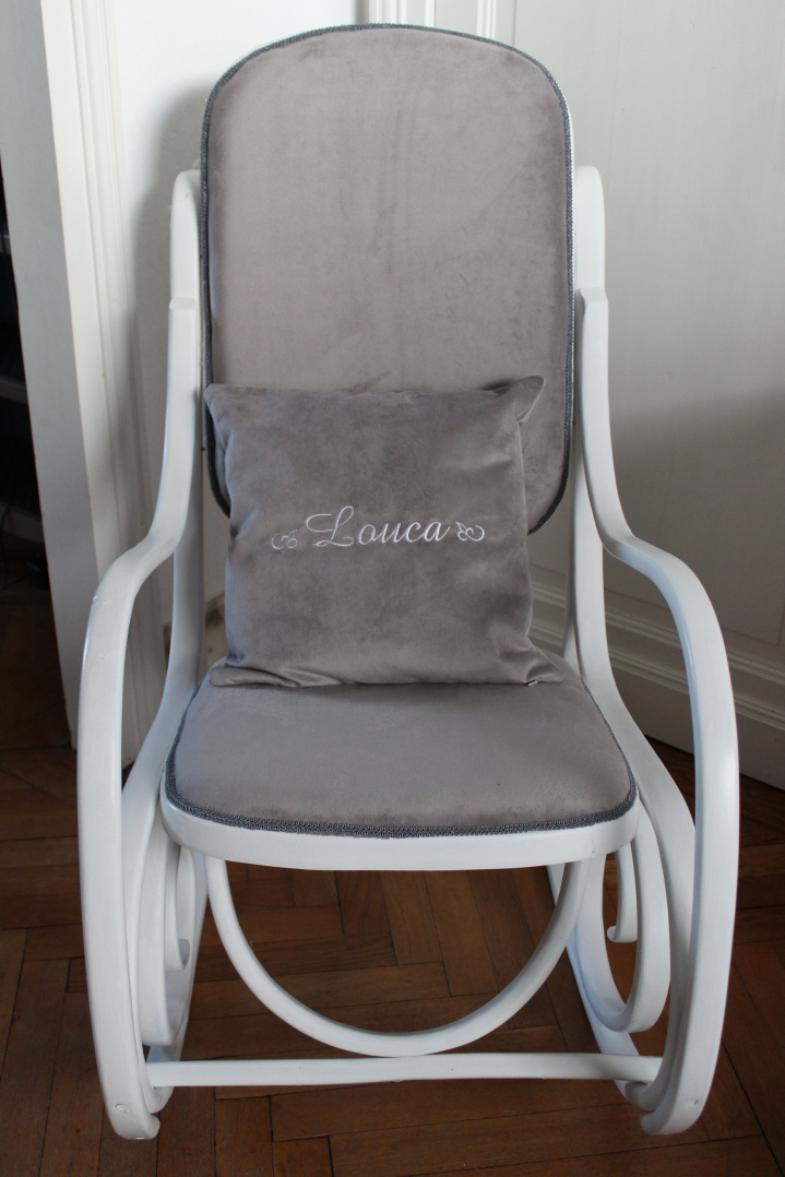rocking chair coussin Louca