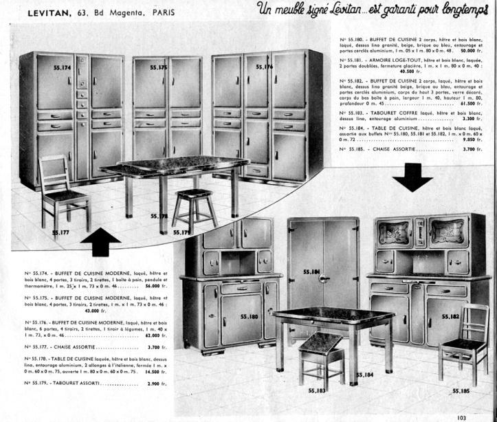 Meubles cuisine buffet Mado 1954 Lévitan 001a