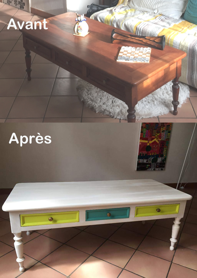 table basse avant apres copie
