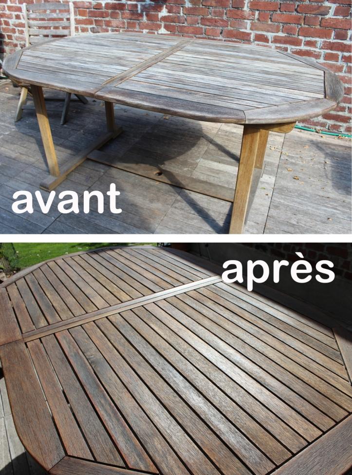 table avant après